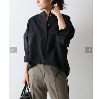 FRAMeWORK - フレームワーク強撚PEドロストシャツ◆ブラック