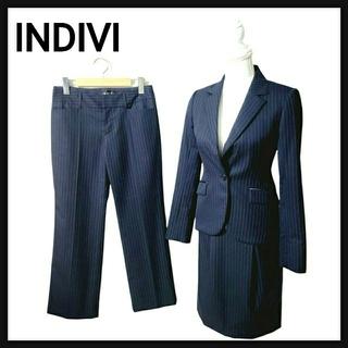 インディヴィ(INDIVI)の【超美品】INDIVI インディヴィ セットアップ スーツ スカート 3点セット(スーツ)
