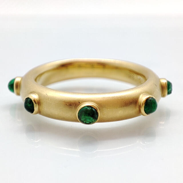 エメラルド リング K18 神楽坂宝石 レディースのアクセサリー(リング(指輪))の商品写真