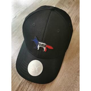 メゾンキツネ(MAISON KITSUNE')の新品未使用 PUMA × メゾンキツネ コラボ  大人気  キャップ  帽子(キャップ)