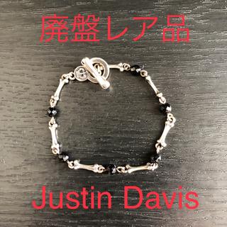 ジャスティンデイビス(Justin Davis)のJustin Davis ボーンオニキスブレスレット 廃盤レア品(ブレスレット/バングル)