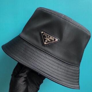 PRADA - 【サイズ:M】新品   プラダ ナイロン ハット 帽子 黒#2609