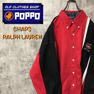 ラルフローレン(Ralph Lauren)のチャップスラルフローレン☆刺繍ロゴ入りサイドラインバイカラーシャツ(シャツ)