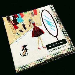 BURBERRY - BURBERRY ハンカチ 女の子 刺繍
