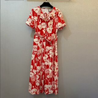 Gucci - Gucci printed short-sleeved dress