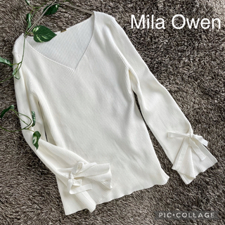 ミラオーウェン(Mila Owen)のミラオーウェン  mila Owen  Vネックリブニット(ニット/セーター)