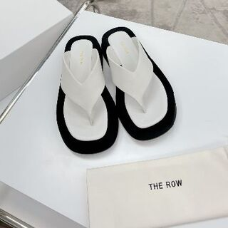 THE ROW 2021 春夏Ginza Sandal in suede 37