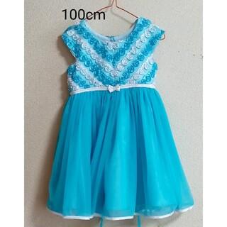 コストコ(コストコ)の4Tコストコ 水色ワンピース(ドレス/フォーマル)