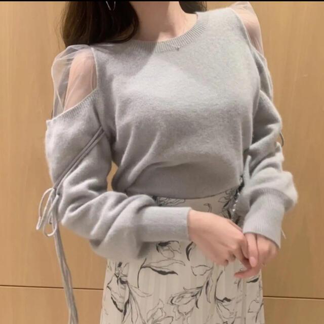 snidel(スナイデル)のsnidel シースルーショルダーニット 正規品 レディースのトップス(ニット/セーター)の商品写真