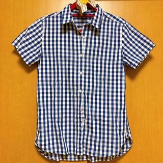ムジルシリョウヒン(MUJI (無印良品))の無印良品 チェック柄 半袖シャツ(シャツ/ブラウス(半袖/袖なし))