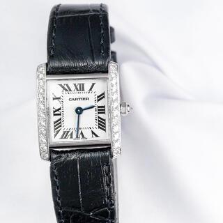 Cartier - 【仕上済】カルティエ タンクフランセーズ WG ダイヤ レディース