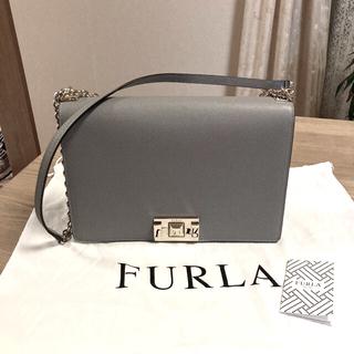 Furla - 極美品♡FURLA フルラ♡MIMI ミミ♡チェーンショルダー♡ライトグレー