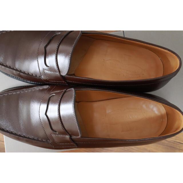 J.M. WESTON(ジェーエムウエストン)のJM Weston 180 シグネチャーローファー ダークブラウン 5C メンズの靴/シューズ(ドレス/ビジネス)の商品写真
