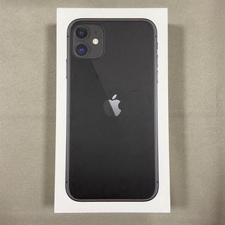 iPhone - 新品未使用品 iPhone 11 64GB ブラック アップル版 SIMフリー
