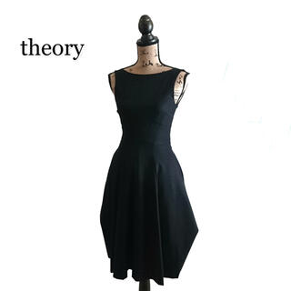セオリー(theory)のtheory セオリー ワンピース ブラック(ひざ丈ワンピース)
