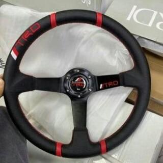 ダイハツ(ダイハツ)の極品 自動車ハンドル ハンドルステアリング 14インチ 35cm(車内アクセサリ)