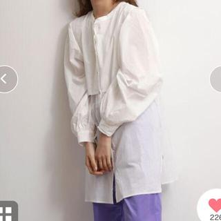Ungrid - ヨークデザインノーカラーシャツ
