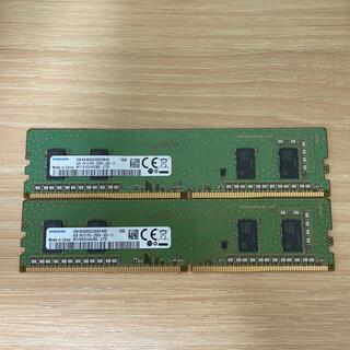 SAMSUNG - DDR4  4 GB 2枚  SAMSUNG製 【即日発送】