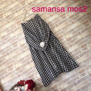 SM2 - samansa mos2【美品】襟レースギンガムチェックワンピース