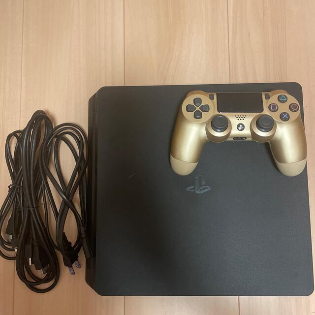 PlayStation4(プレイステーション4)のPlayStation4 PS4スリム版(500GB)本体 各種必要コード  エンタメ/ホビーのゲームソフト/ゲーム機本体(家庭用ゲーム機本体)の商品写真