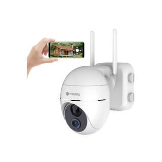 防犯カメラ 屋外 WiFi 1080P 15000mAh 電池式  200万画素(防犯カメラ)