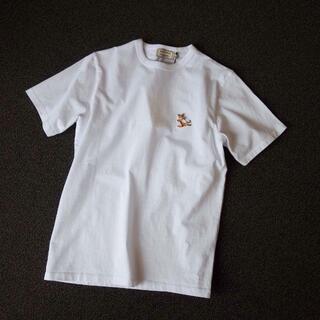 メゾンキツネ(MAISON KITSUNE')の【新品】メゾンキツネ Tシャツ ホワイト XL MAISON KITSUNE (Tシャツ/カットソー(半袖/袖なし))