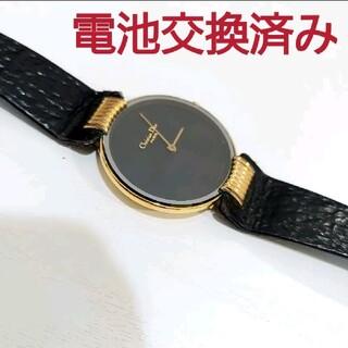 Christian Dior - クリスチャンディオール ブラックムーン 46 153.4 ゴールド 腕時計