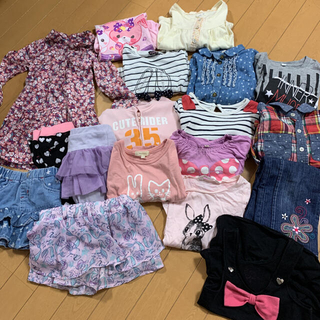 mou jon jon - 女の子 まとめ売り 95 100 パーカー 福袋 ロンT  ワンピース シャツ