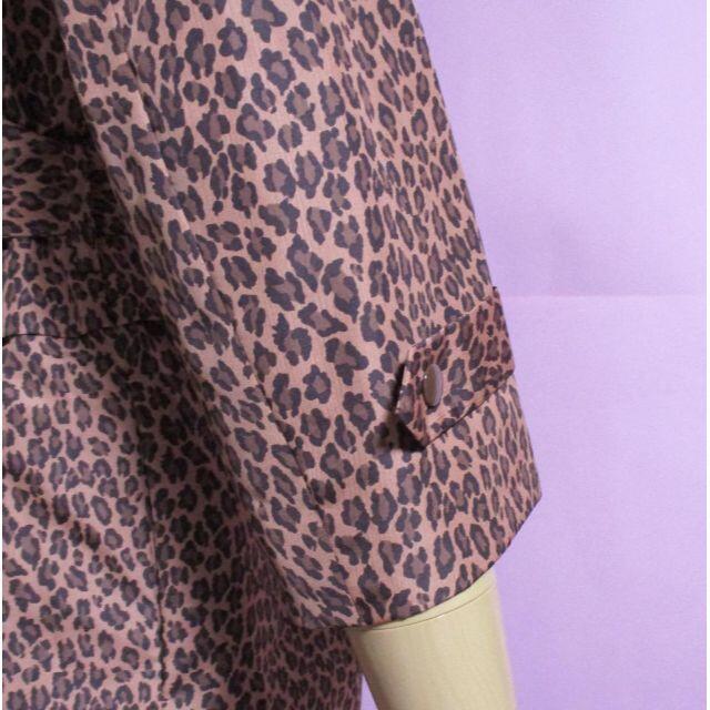 MUVEIL WORK(ミュベールワーク)の【MUVEIL/ミュベール】レオパード柄薄手コート兼ワンピース☆ひょう柄 レディースのジャケット/アウター(ロングコート)の商品写真