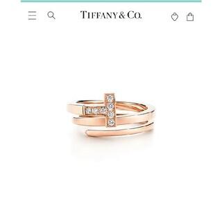 Tiffany & Co. - TIFFANY&Co.ティファニーT ダイヤモンドスクエアラップリング