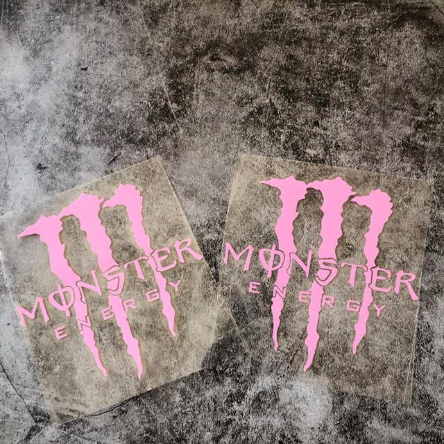 爪痕(ピンク)//車用シール//カーステッカー//モンスター//防水カーシール 自動車/バイクの自動車(車外アクセサリ)の商品写真