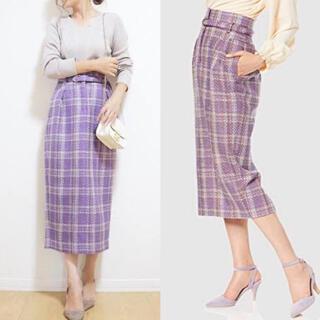 Mila Owen - 【新品・タグ付き】ミラオーウェン◆コクーンツイードスカート size0