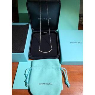 Tiffany & Co. - ティファニー Tスマイルペンダント 18k