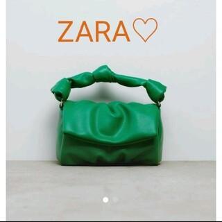 ZARA - ZARA ザラ 緑  グリーン  ショルダーバッグ 完売品 クロスボディバッグ