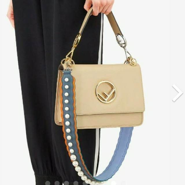 FENDI(フェンディ)の極美品【フェンディ】パール ロング ストラップユー ショルダーストラップ レディースのバッグ(その他)の商品写真