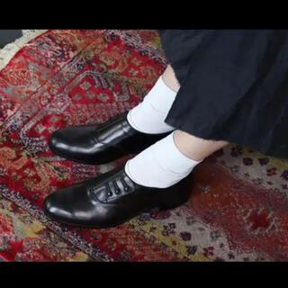 マメ(mame)の美品◆希少◆TACHINO CHIE革靴レザーフラットシューズ(ローファー/革靴)