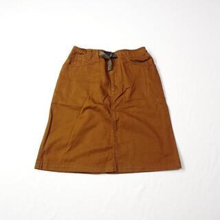 モンベル(mont bell)のmont-bell モンベル ブラウン ひざ丈 スカート(ひざ丈スカート)