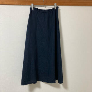 MUJI (無印良品) - 無印フレンチリネン フレアスカート