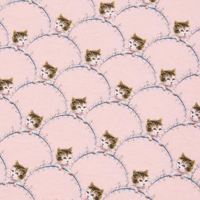 PAUL & JOE(ポールアンドジョー)のポール&ジョー かわいい猫ちゃん柄のTシャツ ピンク XLサイズ 新品未使用 レディースのトップス(Tシャツ(半袖/袖なし))の商品写真