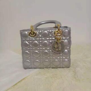 クリスチャンディオール(Christian Dior)のDIOR レディディオール ハンドバッグ ラムスキン(ショルダーバッグ)