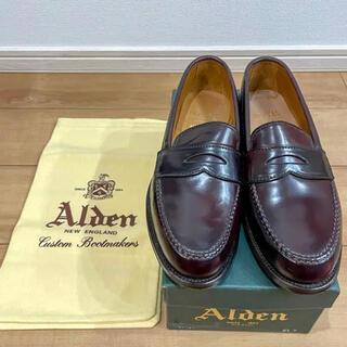 Alden - 【未使用】ALDENオールデンコードバンローファー 8ハーフ