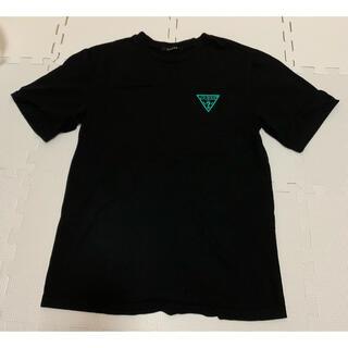 ゲス(GUESS)のTシャツ 半袖 ゲス guess ブラック 黒 ロゴ 紫 緑 パープル グリーン(Tシャツ/カットソー(半袖/袖なし))
