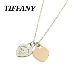 Tiffany & Co. - ティファニー ミニ ダブル ハート リターントゥ ネックレス ローズ メタル