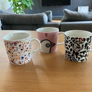 イッタラ(iittala)の日本未発売 イッタラ オイバ・トイッカ マグカップ 3個セット(食器)