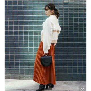 ダブルスタンダードクロージング(DOUBLE STANDARD CLOTHING)のベルト付きボリュームプリーツスカート(ロングスカート)