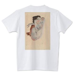 【名画な☆Tシャツ】エゴン・シーレ『Crouching Nude~ 』WOMEN