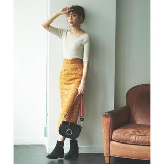 トランテアンソンドゥモード(31 Sons de mode)のケミカルレース切替ロングタイトスカート(ロングスカート)