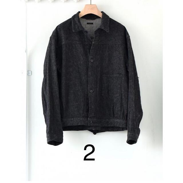 COMOLI(コモリ)の21aw COMOLI コモリ デニムジャケット ブラックエクリュ 2 ブラック メンズのジャケット/アウター(Gジャン/デニムジャケット)の商品写真