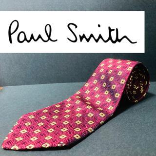 ポールスミス(Paul Smith)の【美品】Poul Smith/ポールスミス ネクタイ ワインレッド 総柄(ネクタイ)