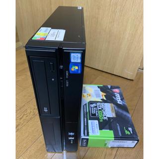 ASUS - GTX1050ti搭載ゲーミングPC●i5-7500/SSD+HDD/Win10
